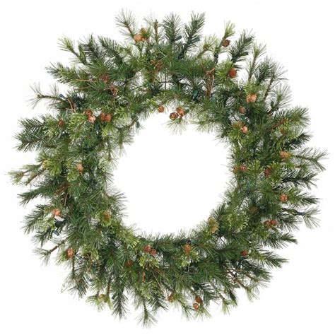 48 Savannah Mixed Pine Artificial Christmas Wreath - Unlit.