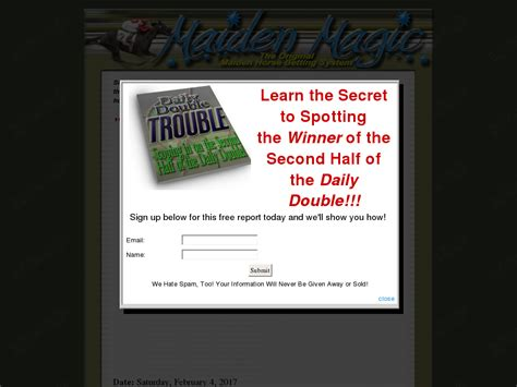 @ 4laneent  Horse Betting System For Maidens Clickbank .
