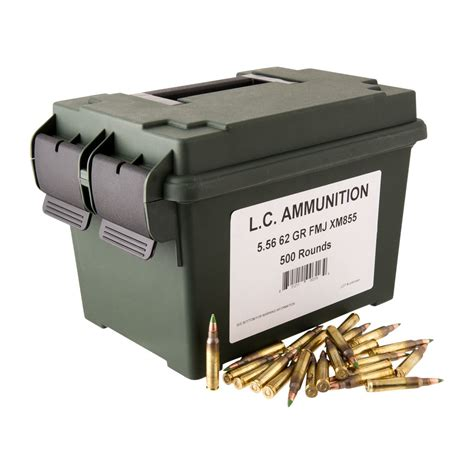 5 56x45mm - 62gr Fmj Xm855 - Lake City In Mtm Ammo Can .