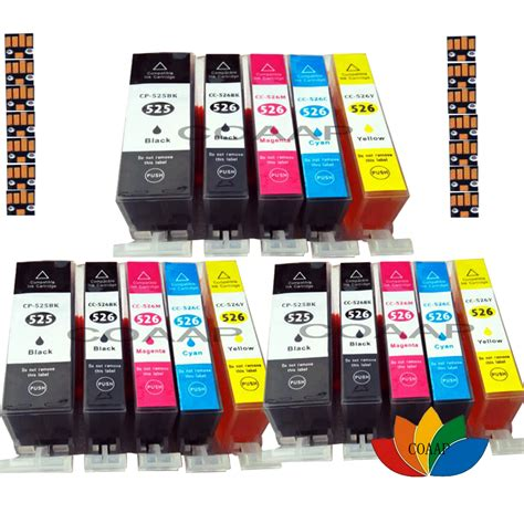 5 Compatible Printer Ink Cartridges For Canon Pixma Ip4000.