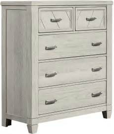 5 Drawer Chest White Rustic