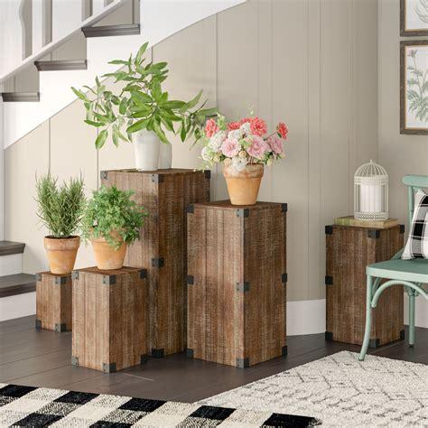5 Piece Pedestal Plant Stand Set