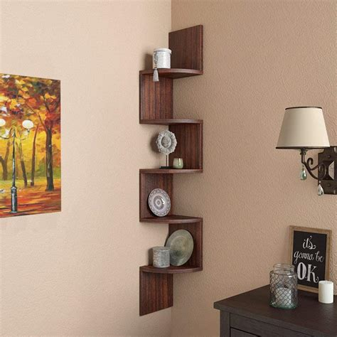 5 Shelf Wall Mount Corner Shelf