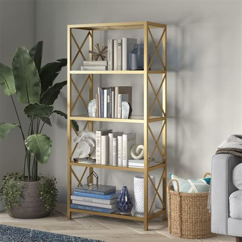 5 Tier Metal Pipe Etagere Bookcase