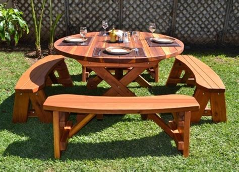 5 Foot Round Picnic Table
