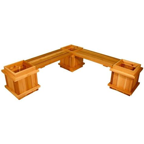 5 Piece Cedar Planter Bench