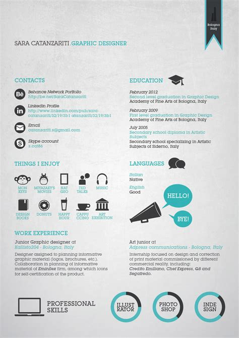 @ 50 Awesome Resume Designs That Will Bag The Job - Hongkiat.
