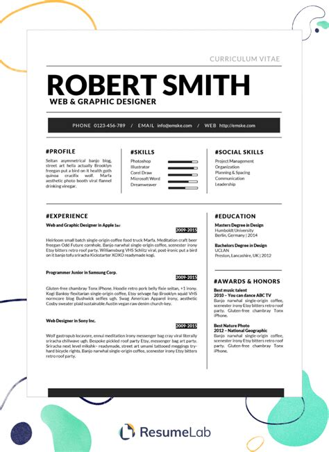 beautiful resume templates word 50 free microsoft word resume templates for download