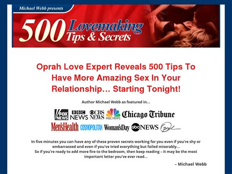 500 Lovemaking Tips & Sex Secrets That You Need To Know.