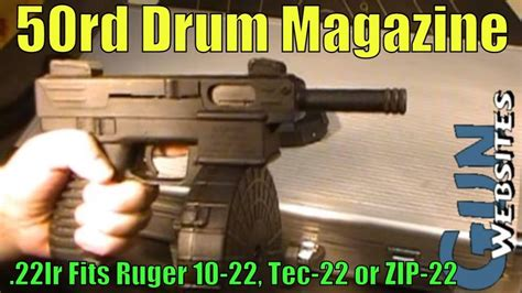 50rd Drum Magazine In 22lr Fit Into Ruger 10-22 Or Tec-22 .
