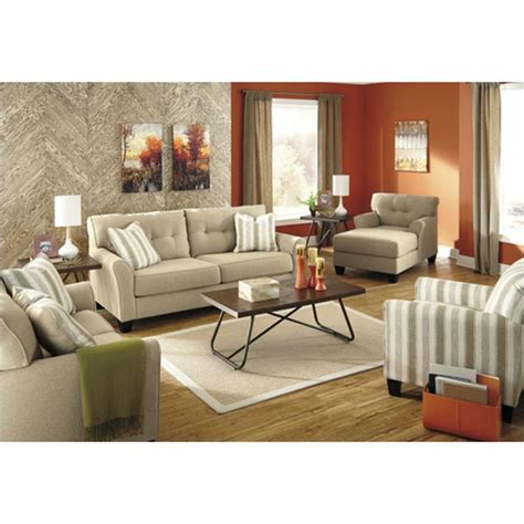 5190238 Ashley Furniture Laryn - Khaki Living Room Sofa.