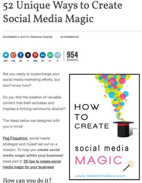 52 Unique Ways To Create Social Media Magic - Rebekah Radice.