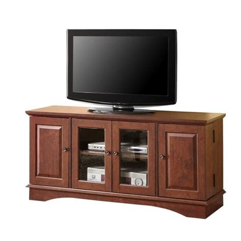 52 Wood Tv Media Stand Storage Console Wite  Up To 70 Off.