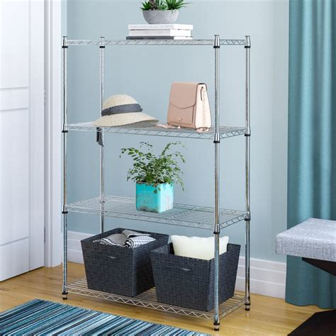 54 H Heavy Duty Wire Four Shelving Unit