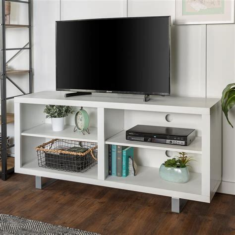 58 Simple Modern Tv Console With Metal Legs White.