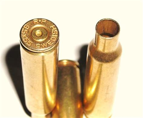 6 5 X55 Swedish Mauser Once Fired Reloading Cartridge .