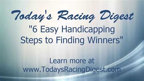 6 Quick Steps Every Horse Racing Handicapper Should Follow.