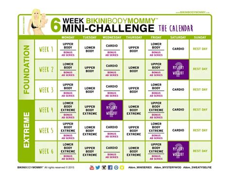 @ 6 Week Fit Body Challenge Workout.