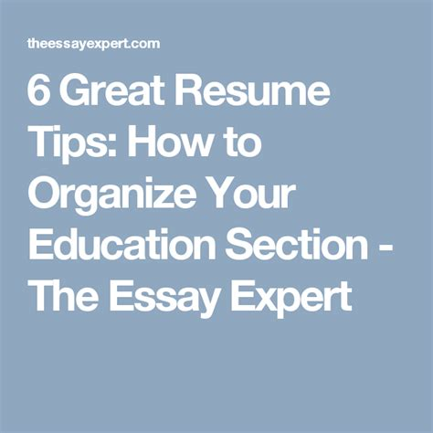 resume tips education section online resume listings