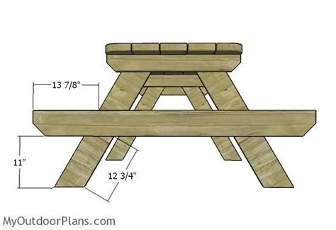 6 Foot Wooden Picnic Table Plans
