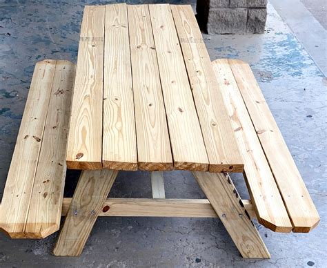 6 Ft Wood Picnic Table