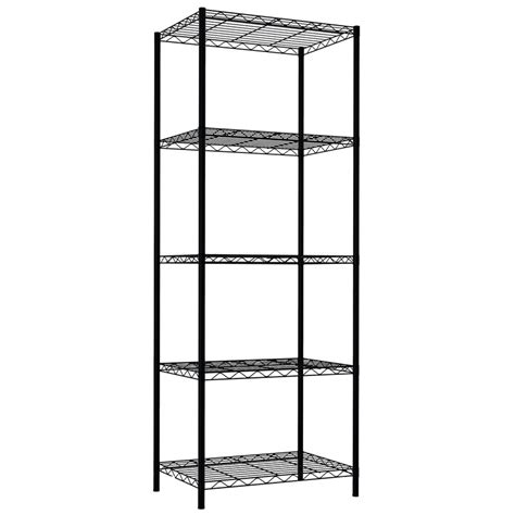 61 H x 21 W 5-Layer Wire Shelving Unit