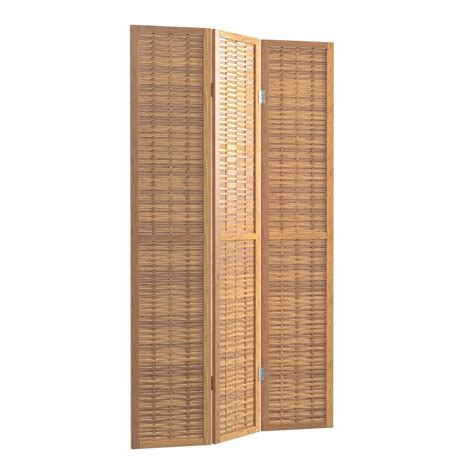 67 x 39 East Haven Bamboo Screen 3 Panel Room Divider