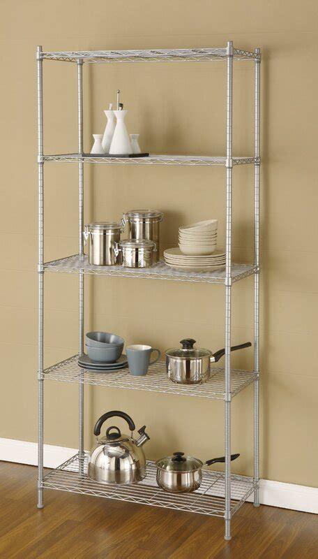 68 H Metal Wire Five Shelves Shelving Unit