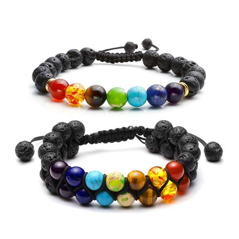 [click]7 Chakra Diffuser Bracelet  The Aromatic Box.