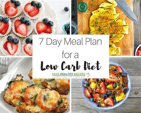 [click]7 Day Meal Plan With All Low Carb Diet Recipes