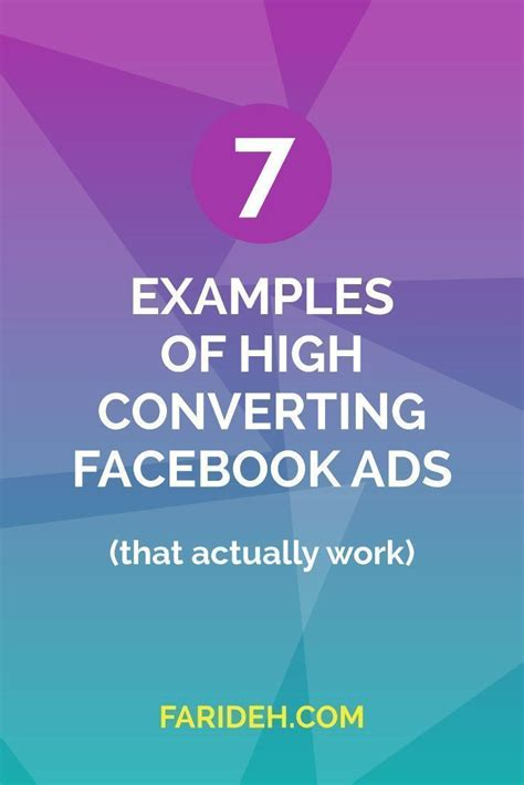 7 Examples Of High Converting Facebook Ads (that Actually Work.