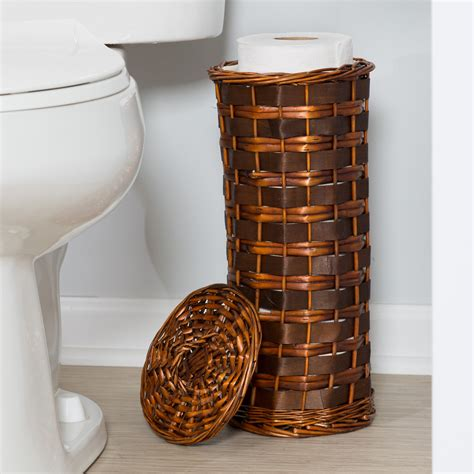 7-Piece Wicker Hamper And Bath Combo Set Chocolate Brown.