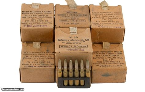 Ammunition 7.35 Carcano Ammunition.