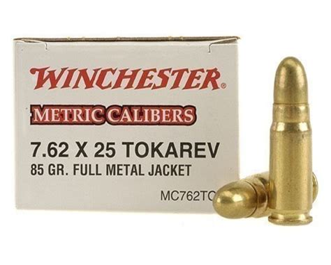 Ammunition 7.62 X25mm Tokarev Ammunition.