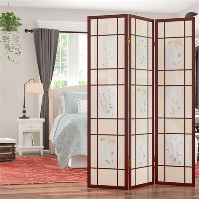 70 x 54 Kinkade Shoji 3 Panel Room Divider