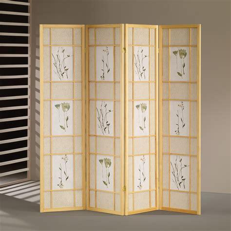 70 x 68 Anik Shoji 4 Panel Room Divider