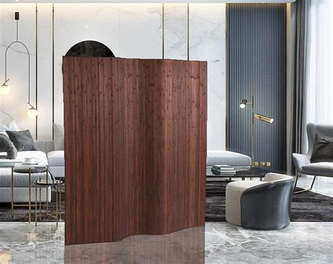 71 x 54 Bamboo 3 Panel Room Divider