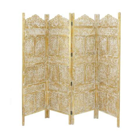 71 x 80 Wood 4 Panel Room Divider