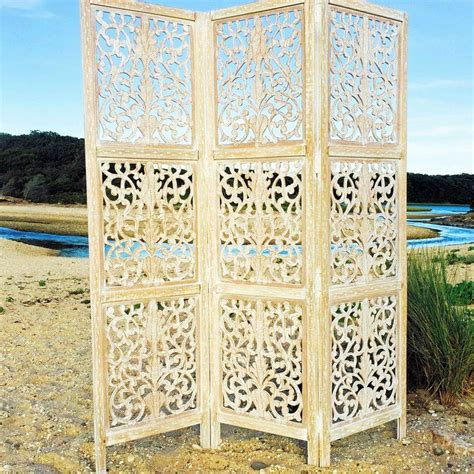 71.6 x 59.1 Key West 3 Panel Room Divider