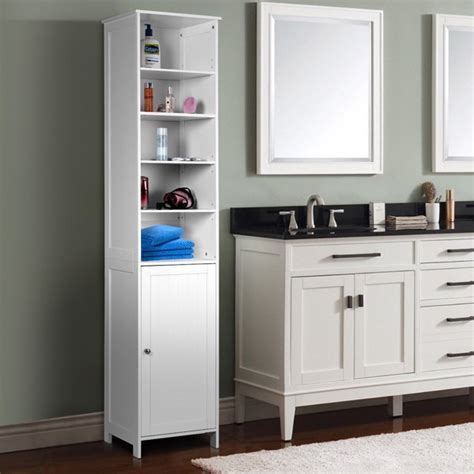 72 H Bathroom Free Standing Floor Storage Shelving Cabinet.