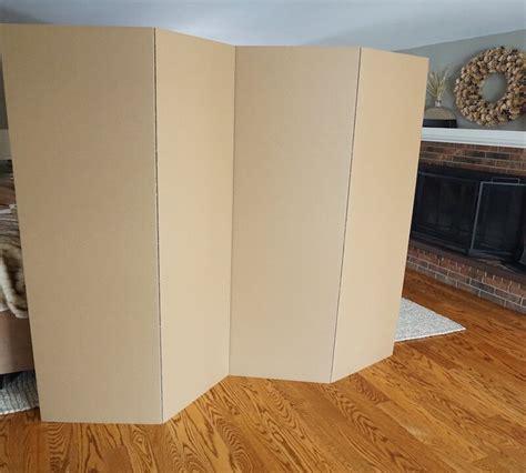 72 x 72 Privacy Cardboard 4 Panel Room Divider