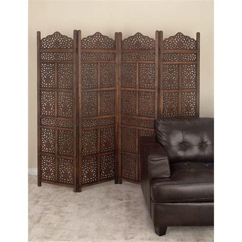 72 x 80 Wood 4 Panel Room Divider