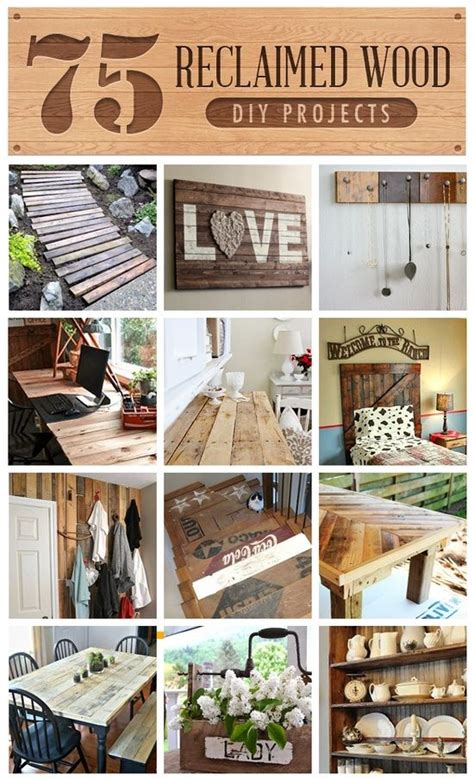 75 Reclaimed Wood Projects DIY