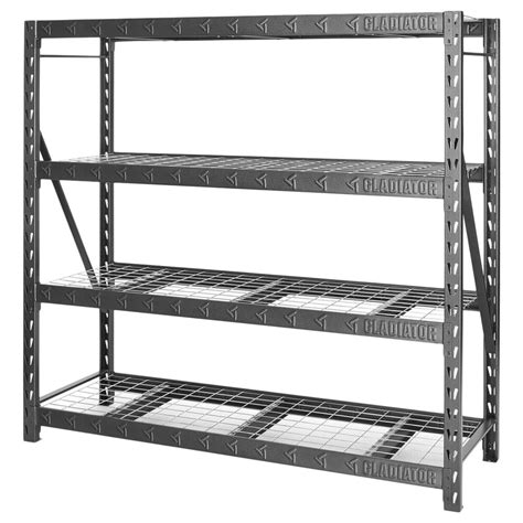 77 Wide Heavy Duty Rack with Four 24 Deep Shelves