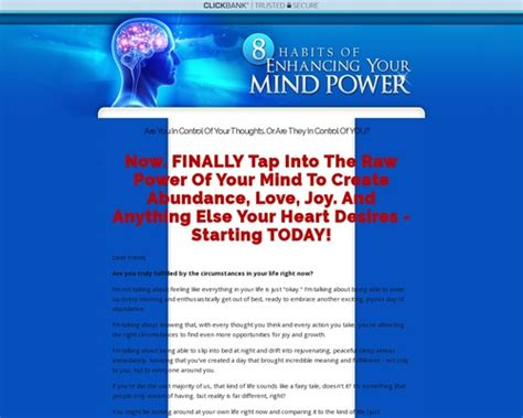 [click]8 Habits Of Enhancing Your Mind Power.