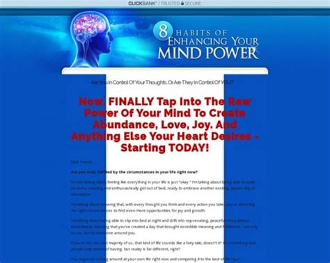 8 Habits Of Enhancing Your Mind Power: (brand New.