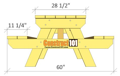 8 Foot Picnic Table Design