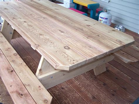 8 Foot Picnic Table Plans with Cooler