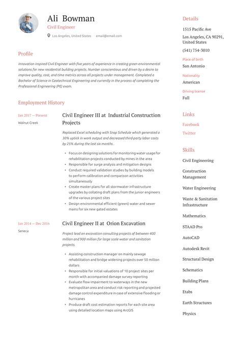 Civil Engineering Student Cv Sample   Resume Template Example sample resume for civil engineering student breakupus personable resume  sample and artist breakupus exquisite how write