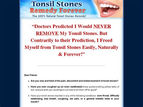 @ Tonsilrmdy Tonsil Stones Remedy Forever Brand New Where To.